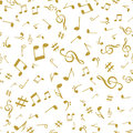Abstract music golden notes seamless pattern background vector illustration for your design Royalty Free Stock Photo