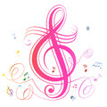 Abstract music notes colorful background Royalty Free Stock Photo