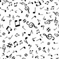 Abstract music notes seamless pattern background vector illustration for your design Royalty Free Stock Photo