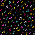 Abstract music seamless pattern background vector illustration for your design. Royalty Free Stock Photo