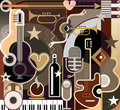 Abstract Music - vector illustration Royalty Free Stock Photo