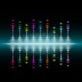 Abstract music volume equalizer concept background Royalty Free Stock Photo