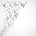 Abstract musical background illustration Stock Photo