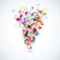 Abstract musical background illustration Stock Images