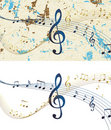 Abstract musical design raster Stock Photo