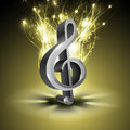 Abstract musical note. Royalty Free Stock Photography