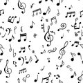 Abstract musical pattern for your design Stock Image