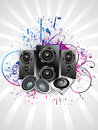 Abstract musical sound background Royalty Free Stock Image