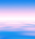 Abstract natural blur serene background backdrop with sky and water surface wave pattern divided by the horizon line skyline Stock Photos