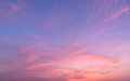 Abstract nature background.Moody pink, purple clouds sun set sky Royalty Free Stock Photo