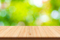 Abstract nature blurred background and wooden floor Royalty Free Stock Photo
