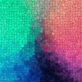Abstract plastic stony mosaic tiles texture background with black grout - green, cyan, blue, pink, purple colors Royalty Free Stock Photo