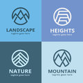 Abstract Nature Mountain Pack Logo Template Design Vector