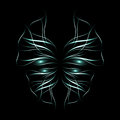 Abstract neon butterfly