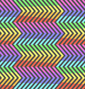 Abstract neon contrast rainbow zigzag pattern Royalty Free Stock Photo