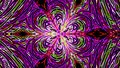 Abstract neon flower background. 3d rendering digital Royalty Free Stock Photo