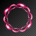 Abstract neon frame
