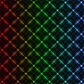 Abstract neon grid background Royalty Free Stock Photo