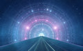Abstract new age space background intergalactic highway travel Stock Image