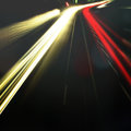 Abstract night acceleration speed motion bokeh Royalty Free Stock Photography