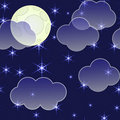 Abstract night background with clouds and stars Royalty Free Stock Photo