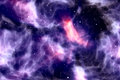 Abstract night sky with glitter sparkle stars and nebula, colorful blue and purple galaxy space universe Royalty Free Stock Photo