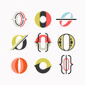 Abstract O letter symbols, drop cap  logotypes. Royalty Free Stock Photo