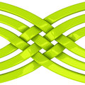 Abstract object d green connection network and teamwork symbol illustration Stock Photo