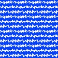 Water zigzag stormy waves seamless pattern