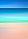 An abstract ocean seascape with blurred motion. Image displays a retro, vintage look with cross-processed colors. Royalty Free Stock Photo