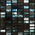 Abstract office windows