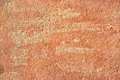 Abstract old terracotta plastered red wall texture background Royalty Free Stock Photo