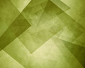 Abstract olive green geometric background with layers of triangles and rectangles with distressed texture design Royalty Free Stock Photo