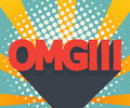 Abstract omg background comic book