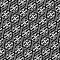 Triangle pattern black and white.