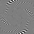Abstract op art design. Illusion of whirlpool movement.