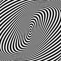 Abstract op art design. Royalty Free Stock Photo