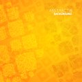 Abstract orange background cubes mosaic vector illustration Royalty Free Stock Image