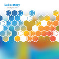 Abstract orange blue laboratory background medical Royalty Free Stock Images