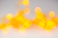 Abstract orange blurred light background with circles Royalty Free Stock Photo