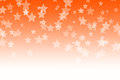 Abstract orange bokeh stars background Royalty Free Stock Photo