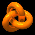 Abstract orange endless loop Stock Image