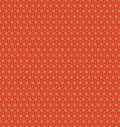 Abstract orange flower pattern wallpaper Royalty Free Stock Photo