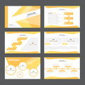 Abstract Orange presentation template Infographic elements flat design set for brochure flyer leaflet marketing Royalty Free Stock Photo