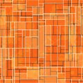 Abstract orange rectangle seamless pattern with grunge effect eps Stock Photography