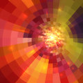 Abstract orange shining circle tunnel background lined Stock Photos