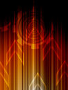 Abstract Orange technology background. Royalty Free Stock Photos