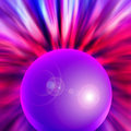 Abstract orb with lens flare Royalty Free Stock Photo