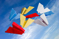 Abstract origame paper planes Stock Images