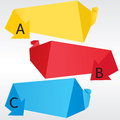 Abstract origami banner vector eps Stock Photos